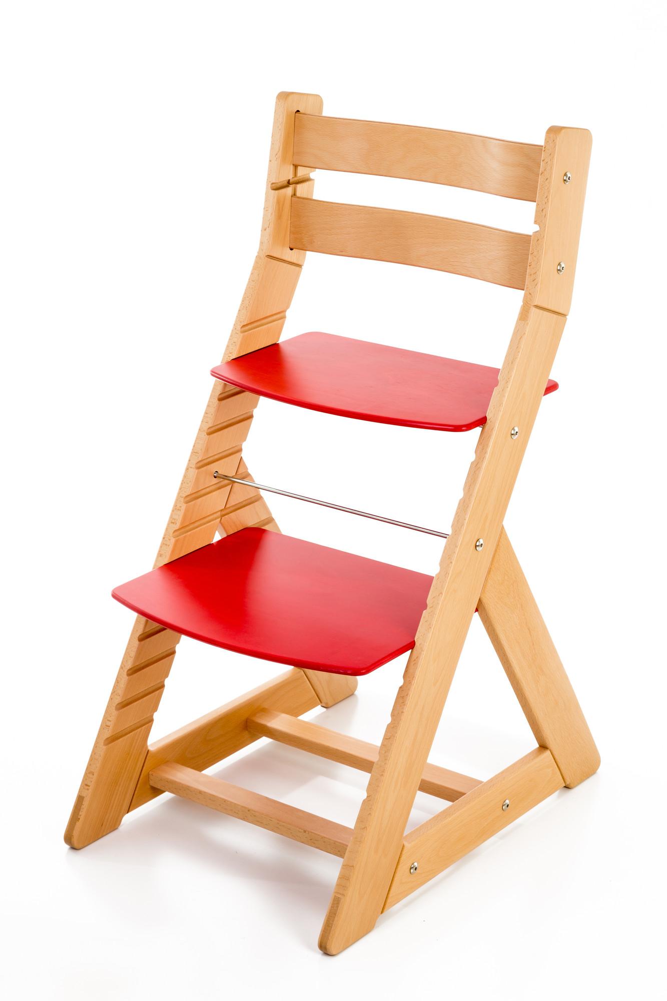Hajdalánek Rostoucí židle ALMA - standard (buk, červená)