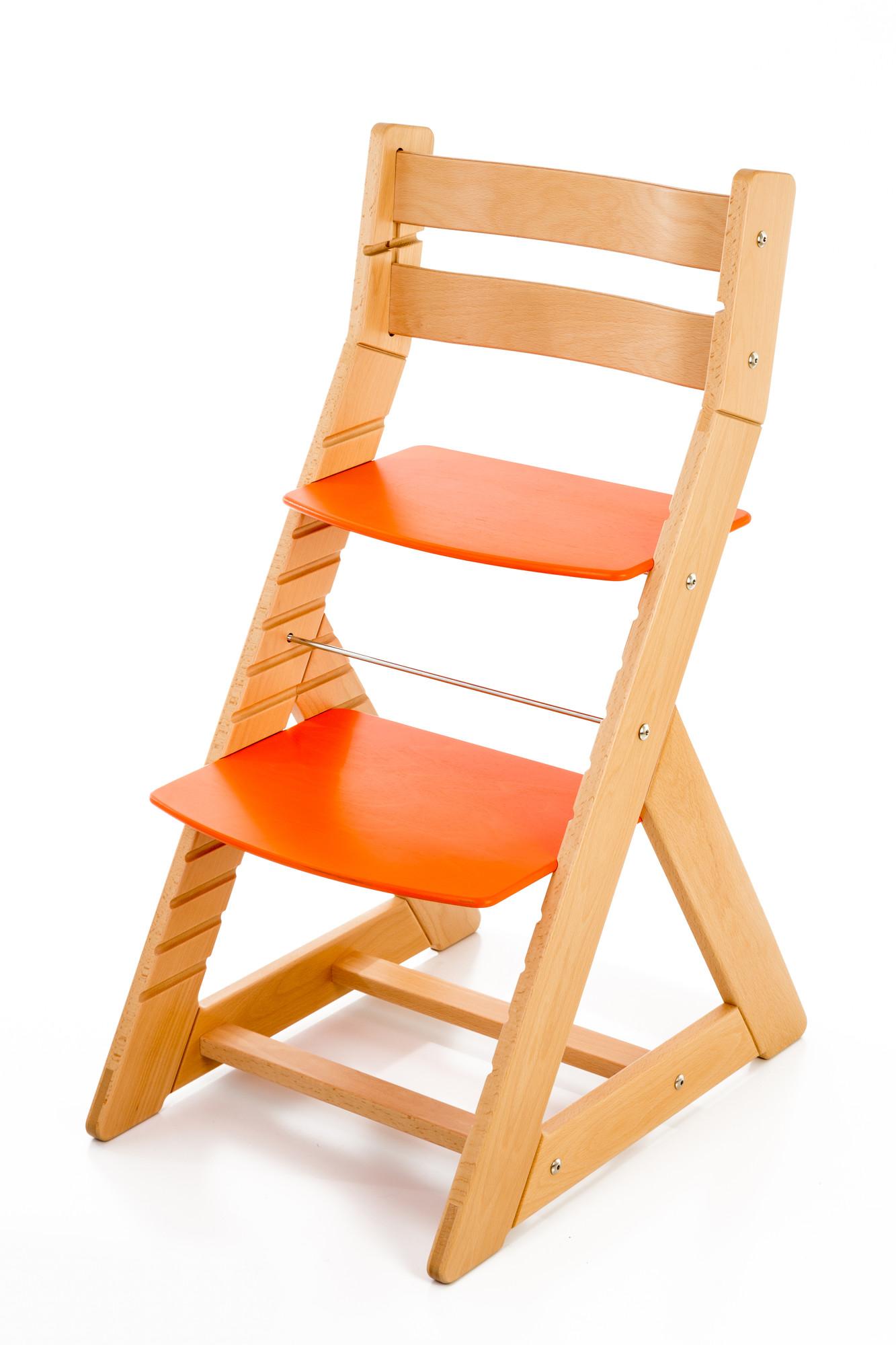 Hajdalánek Rostoucí židle ALMA - standard (buk, oranžová)