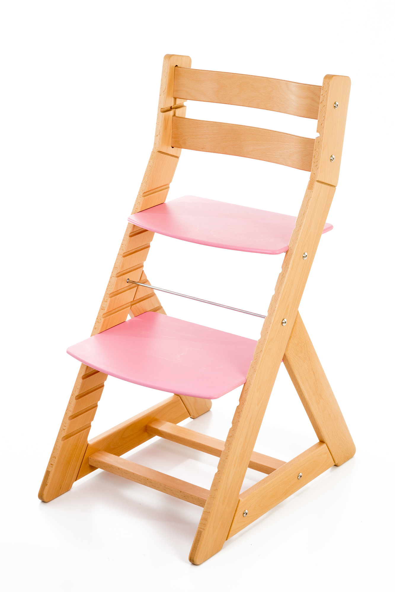 Hajdalánek Rostoucí židle ALMA - standard (buk, růžová)