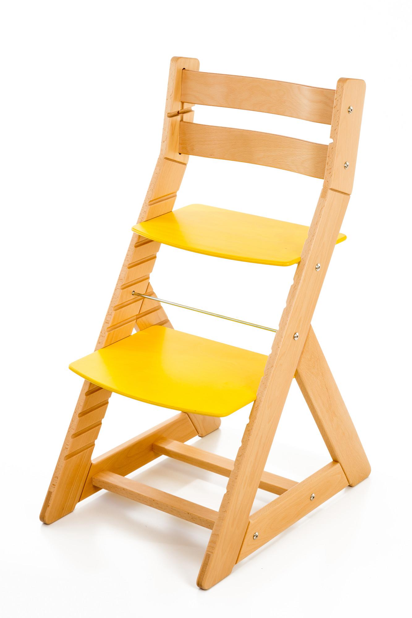 Hajdalánek Rostoucí židle ALMA - standard (buk, žlutá)