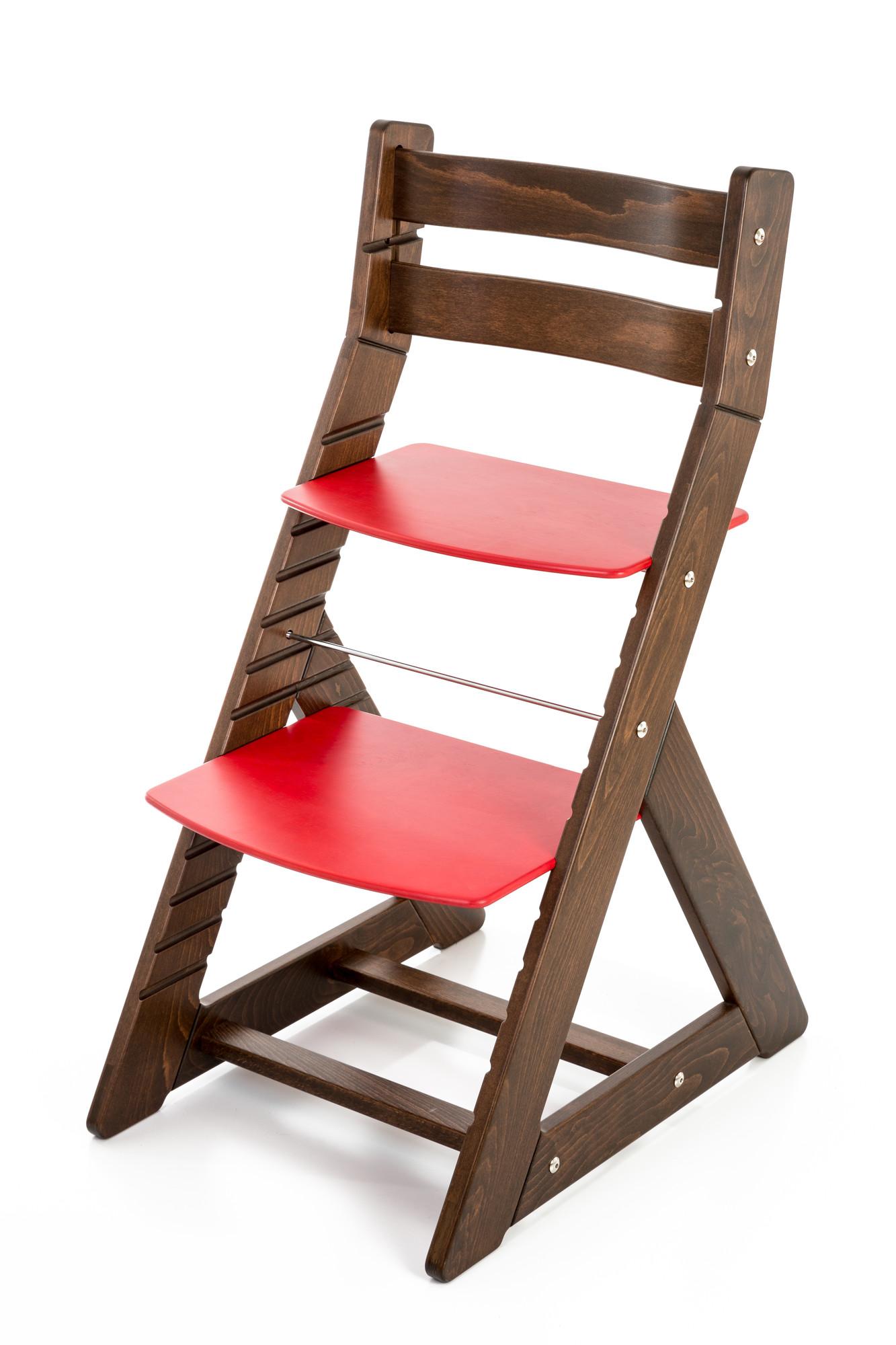 Hajdalánek Rostoucí židle ALMA - standard (ořech, červená)