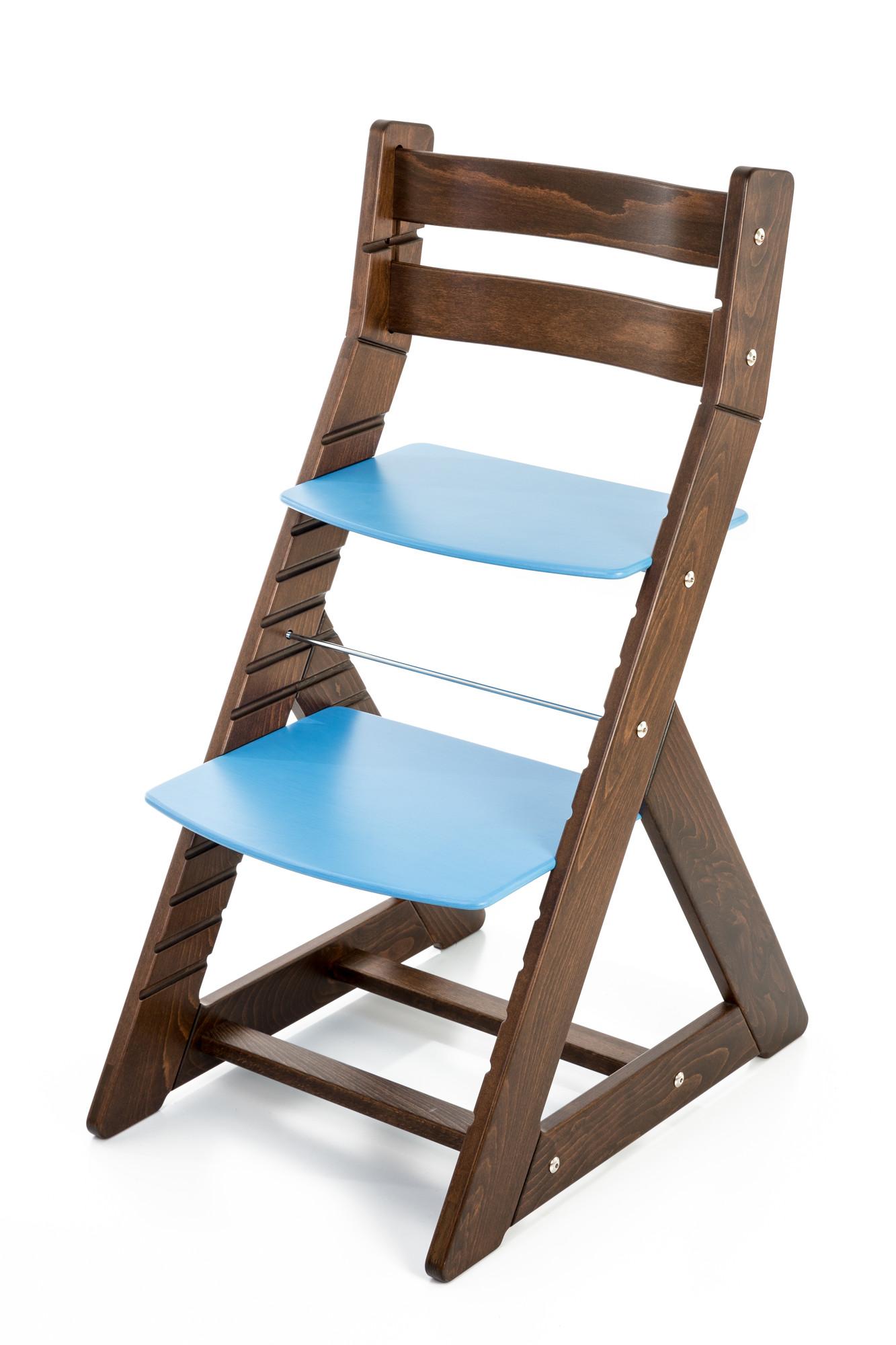 Hajdalánek Rostoucí židle ALMA - standard (ořech, modrá)