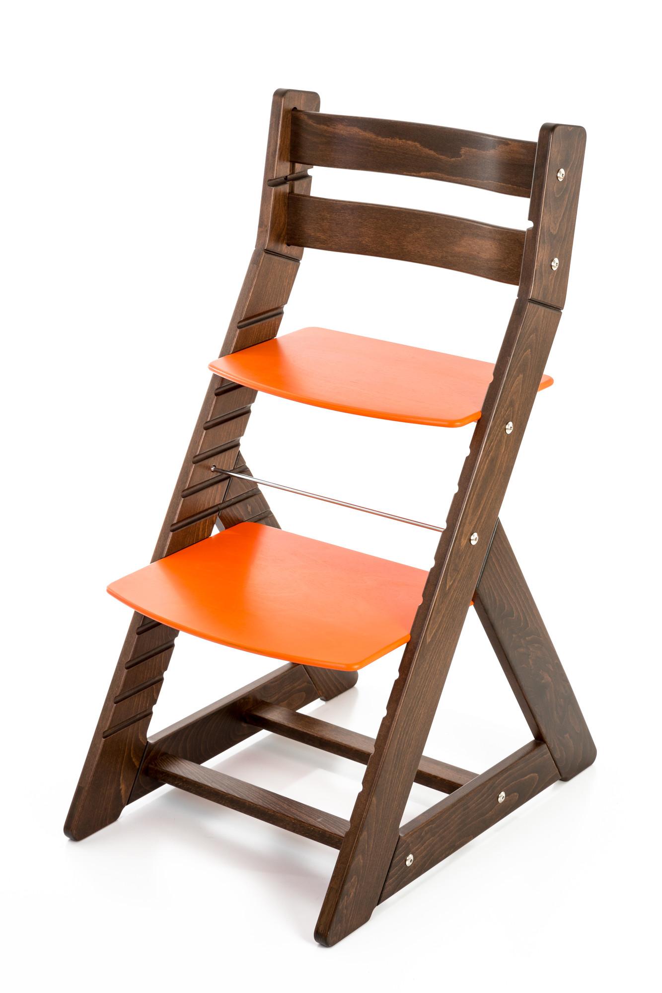 Hajdalánek Rostoucí židle ALMA - standard (ořech, oranžová)