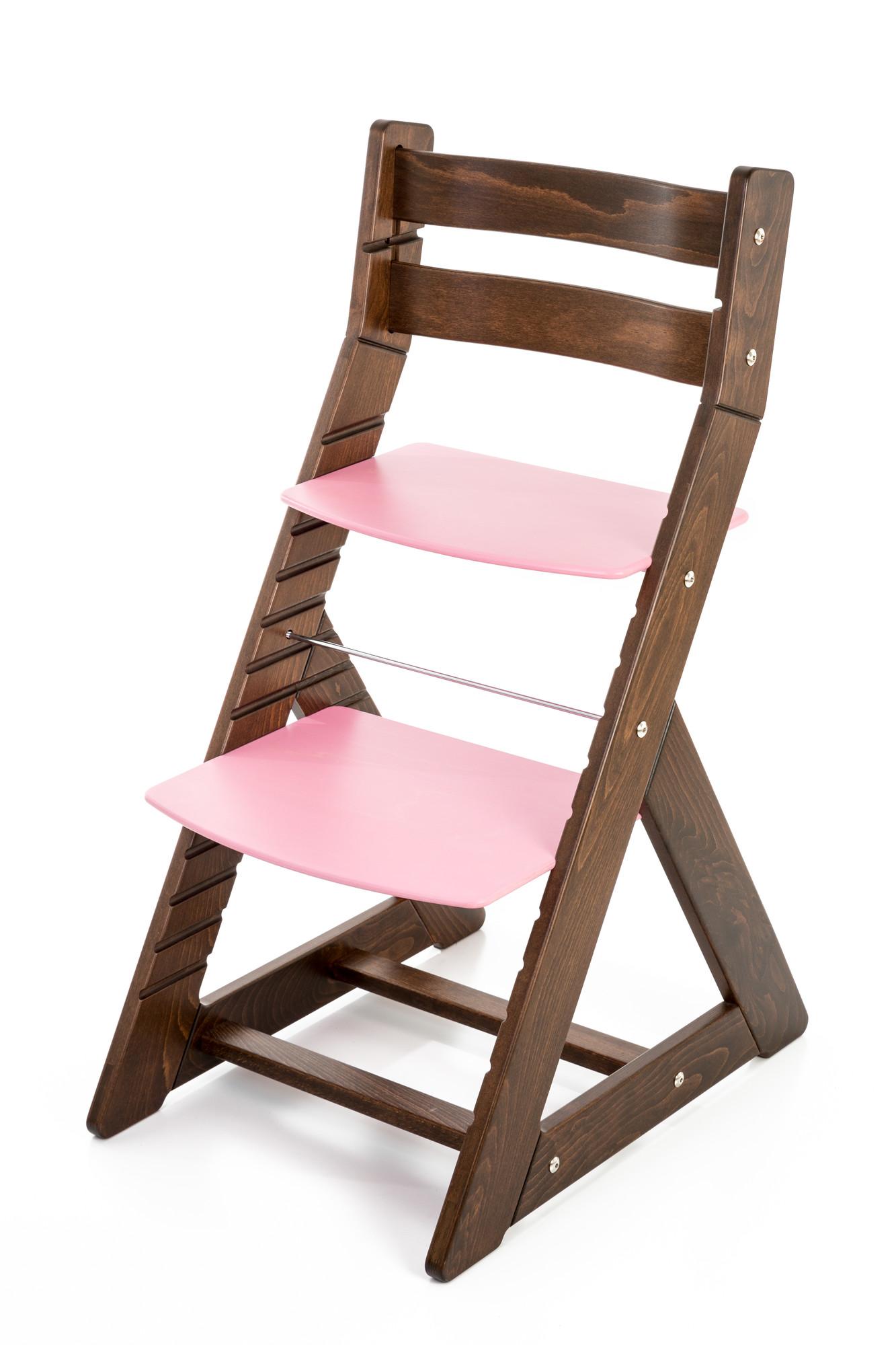Hajdalánek Rostoucí židle ALMA - standard (ořech, růžová)