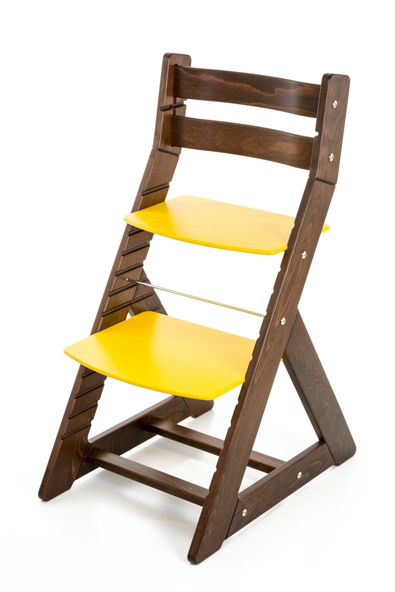 Hajdalánek Rostoucí židle ALMA - standard (ořech, žlutá)