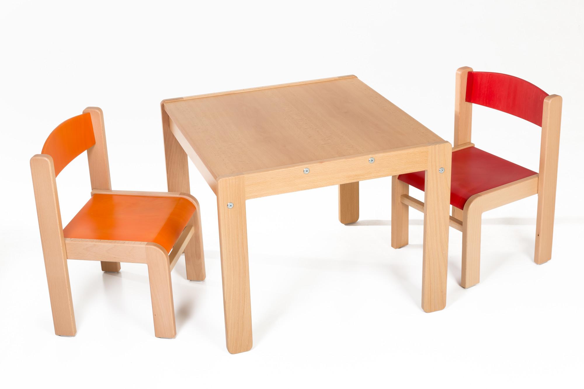 Hajdalánek Dětský stolek Lucas + židličky Luca (červená, oranžová)