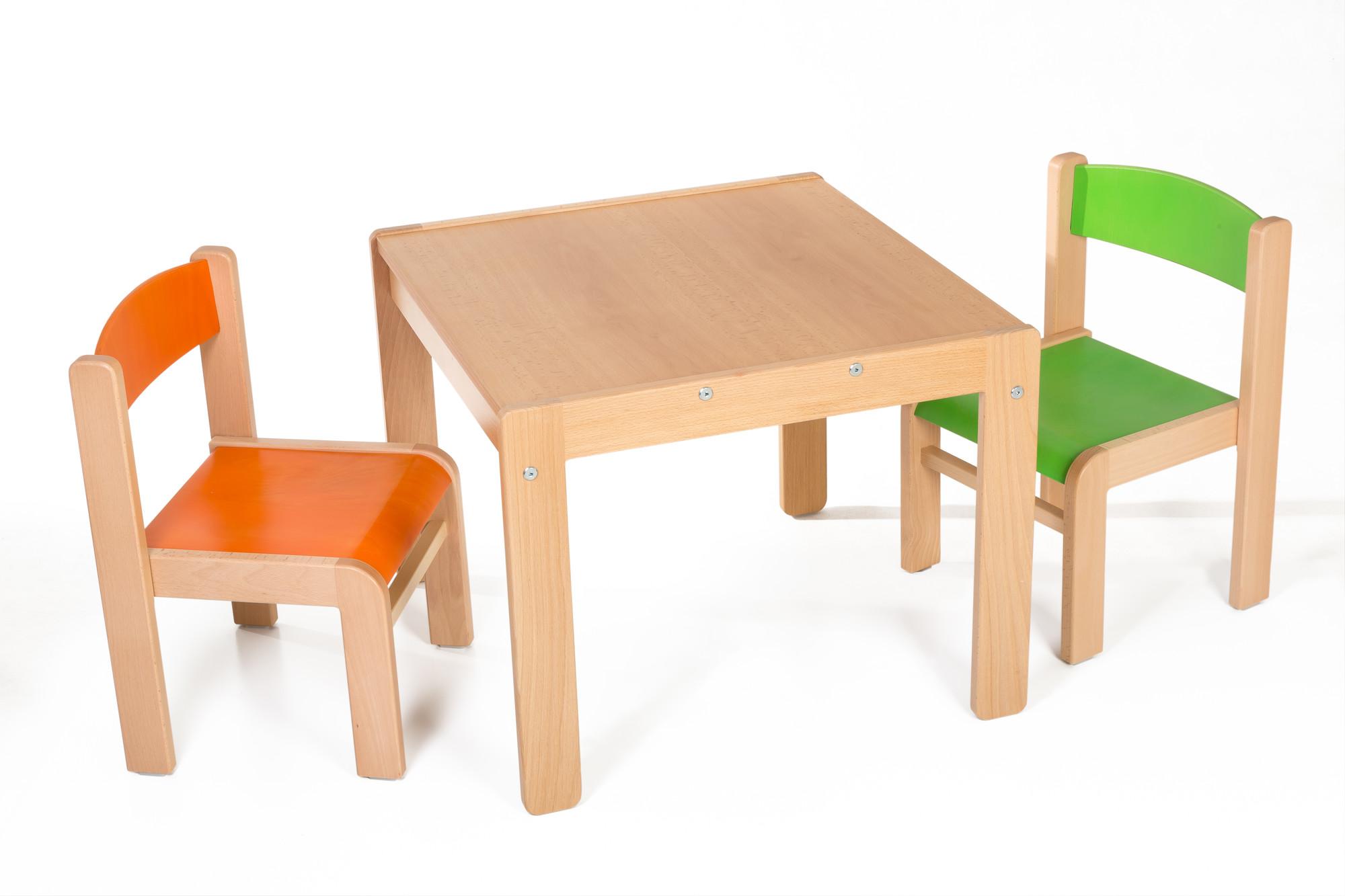 Hajdalánek Dětský stolek Lucas + židličky Luca (oranžová, zelená)
