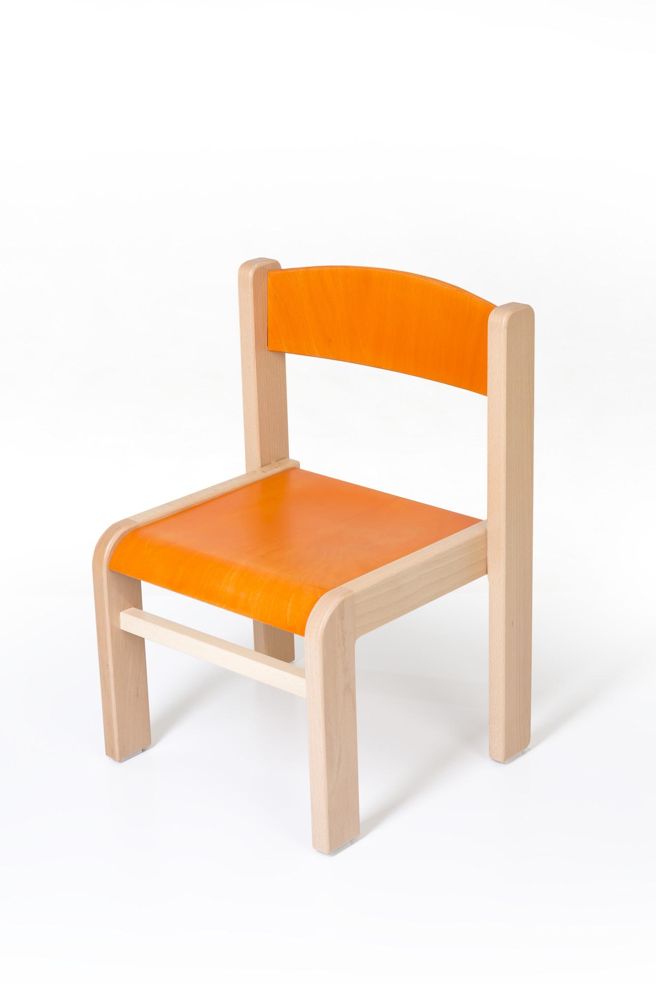 Hajdalánek Dětská židlička Luca (oranžová)