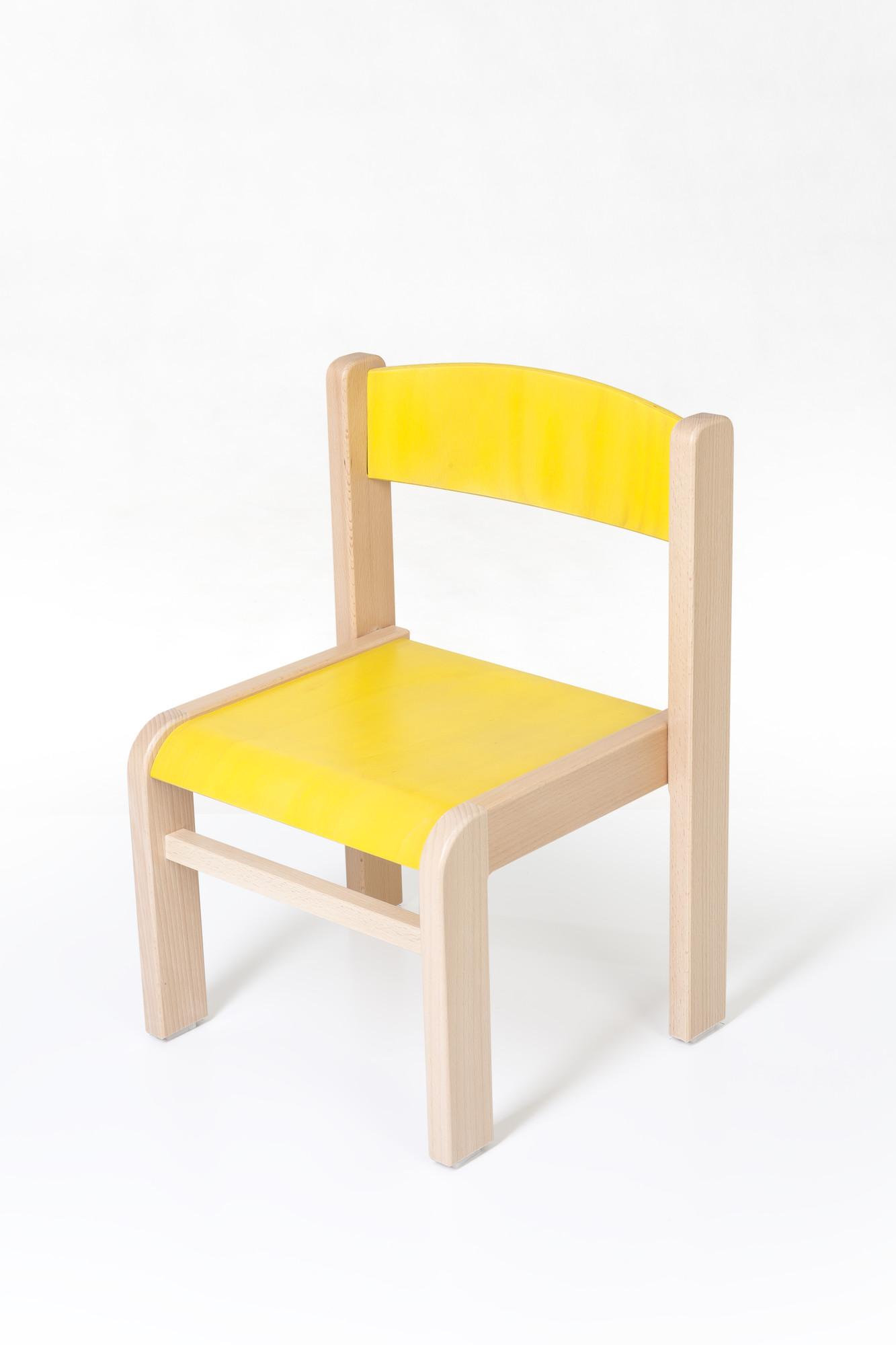 Hajdalánek Dětská židlička Luca (žlutá)
